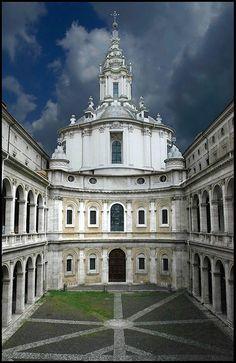 borromini st ivo alla sapienza roma. central plan w/ dome and tower. convex and cancave
