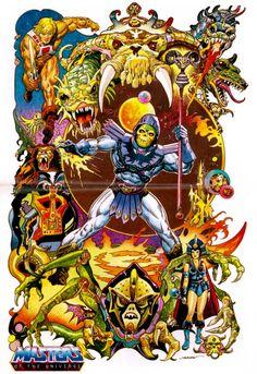 Skeletor Masters of The Universe Retro A5 Art Print Original Art by Alex Mines
