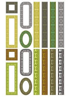 Set Of Seamless Vertical Borders Free Vector Cd R, Borders Free, Cnc Router, Coreldraw, Vector File, Frame, Silhouette, Pattern, Drawing