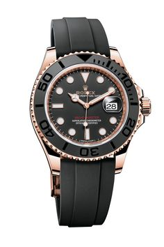 "The mighty crown is celebrating the 60th anniversary of the Day-Date by giving its flagship model a fairly extreme makeover, resulting in 17 new patents. Changes include a new 40mm case, a new-generation movement with 70 hours of power reserve, extra flutes on the distinctive bezel and ceramic-sleeved bracelet links. Watch of the collection The first Rolex to be supplied on a rubber strap, the latest Yacht-Master features a delectable, fade-resistant ""Everose"" pink gold case, which can be…"