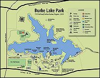 Burke Lake Park - Fairfax Station, VA Campground, Ice Cream Parlor, Marina, Mini-Golf, Rides, Trails, Lakefront, playground. Open April through October. $10/car entrance fee (weekends, no charge during week)