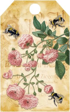 Bountiful Heirlooms: Free Printables: Bee and Beekeeping Tags Mason Jar Crafts, Mason Jar Diy, Paper Art, Paper Crafts, Bee Art, Bee Keeping, Vintage Paper, Vintage Ads, Flower Crafts
