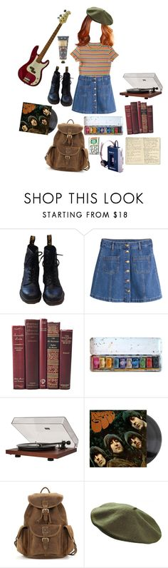 """""""ginger"""" by mermemelife ❤ liked on Polyvore featuring Dr. Martens, H&M, Dot & Bo, Moleskine and William Morris"""