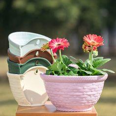 Smarter Shopping, Better Living! Aliexpress.com Flower Holder, Plastic Flowers, Hanging Pots, Garden Supplies, Garden Pots, Flower Pots, Planter Pots, Home And Garden, Creative