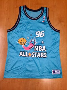 1842635727f Vintage 1996 NBA All Star Game Promo Champion Jersey Size 48 scottie pippen  shaquille o neal dikembe mutombo michae jordan shirt hat barkley
