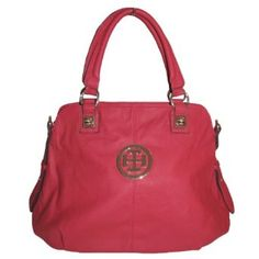 New York Satchel Handbag (Red),$29.95
