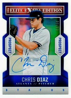 MLB 2014 Panini Elite Chris Diaz AUTO RC /50 MNT RARE #AtlantaBraves