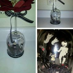 OOAK DiY Gothic  Punk Home Decor Glass Dome  Custom Made #Handmade #Gothic