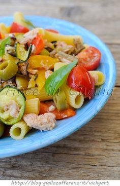 Pasta fredda con tonno e verdure grigliate vickyart arte in cucina