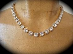 Diamond Cut Crystal Bridal Necklace Set - Clear Crystal, Princess Length