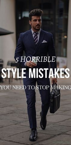 """Do you ever just look at someone and be like, """"NO"""" I'm going to save your ass from the most horrible style mistakes that you are making right now. These mistakes maybe completely killing your style. Also, this article is in correlation in #mensfashiontips #menstyletips"""
