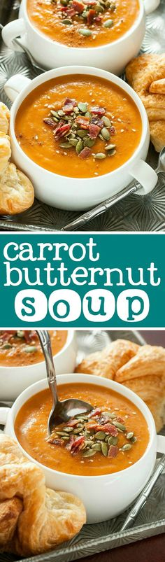 This paleo-friendly carrot butternut slow cooker soup is easy and delicious!