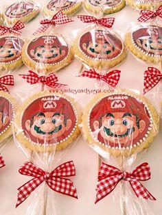 Galletas Mario Bros - Mario Bros Cookies  - Tartas personalizadas Valladolid - Tartas fondant Valladolid