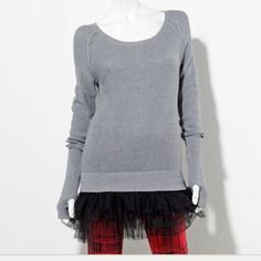 @Kohls Princess Vera Wang tutu sweater. So eclectic! Go sassy chic with this and a pair of patterned jeggings & leg warmers!!