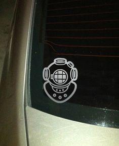 Diver Helmer - Mark V - Dive Helmet - Premium Vinyl Decal on Etsy, $10.00