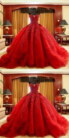 Wedding dresses,lace wedding dresses,organza wedding dress,red wedding dresses by MeetBeauty, $240.10 USD