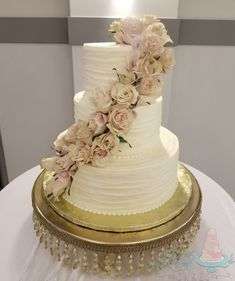 Soft romantic buttercream is complimented by fresh roses Compliments, Cake Recipes, Roses, Romantic, Fresh, Desserts, Food, Tailgate Desserts, Deserts