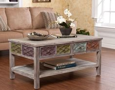 Home Living Room Accent Coffee Table Carved Wood Classic Antique Designs Style