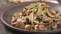 This marinated-mushrooms recipe is the perfect topping to chicken paillards.