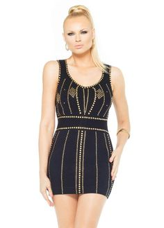 gold Irina dress voronina