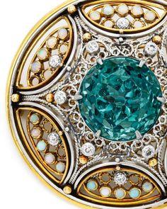 Gold, Platinum, Tourmaline, Opal and Diamond Brooch, Tiffany Tiffany Jewelry, Opal Jewelry, Jewelry Art, Diamond Jewelry, Antique Jewelry, Vintage Jewelry, Louis Comfort Tiffany, Tiffany & Co., Tiffany Lamps