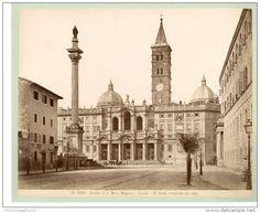 Italie, Roma, Basilica di Santa Maria Maggiore Vintage albumen print.   Tirage albuminé   21x27   Circa 1880
