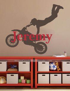 Motocross Wall Decal, Motocross Decor, Dirt Bike Wall