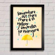 Poster Yellow Umbrella - How I Met Your Mother - comprar online