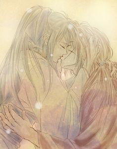 Rurouni Kenshin - Kenshin Himura x Kaoru Kamiya - KenKao Kenshin Y Kaoru, Kenshin Anime, Anime Kiss, Manga Anime, Anime Art, Couple Manga, Couple Art, Manga Love, Anime Love