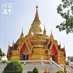Um dos mais importantes templos budistas, na Tailândia, popularmente conhecido como Golden Pagoda, existe há mais de 2.600 anos e impressiona viajantes de todo o mundo.  Você viajaria para um destino exótico como a Tailândia?  Comente aqui e conte pra gente quais lugares inusitados você deseja conhecer.  ;)