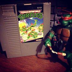 On instagram by goosegaming #nes #microhobbit (o) http://ift.tt/1Jv3W65 Night Gaming  Teenage Mutant Ninja Turtles NES  #playstation #ps1 #ps2 #ps3 #ps4 #psvita #pc #xbox #xboxone #xbox360 #nintendo  #snes #supernintendo #n64 #wii #wiiu #sega #gaming #gamers #games #tmnt #ninjaturtles #toys
