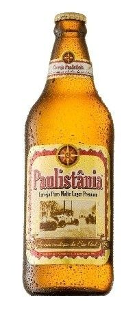 Cerveja Paulistânia, estilo Premium American Lager, produzida por Casa di Conti, Brasil. 4.8% ABV de álcool.