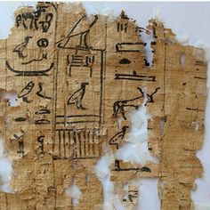 This hieroglyphic papyrus was among scores of ancient documents found at Wadi al-Jarf in Egypt. Egypt SCA via AP Ancient Egyptian Art, Ancient History, Great Pyramid Of Giza, Visit Egypt, Old Port, Pyramids Of Giza, Egypt Today, Illuminated Manuscript, Archaeology