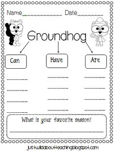 Just Wild About Teaching: Adorable Groundhog Day Craft!