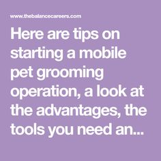 how to start a mobile pet grooming business