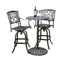 Meadow Decor Red Daisy Aluminum Bistro Set ($49) ❤ Liked On Polyvore  Featuring Home, Outdoors, Patio Furniture, Outdoor Patio Sets, Red Patio  Furniu2026