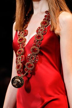 Ruby studded necklace, heirloom of House Lannister, Versace