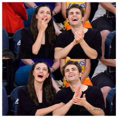 Paul wesley and phoebe tonkin 03/15