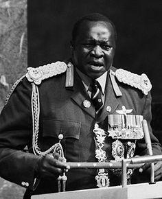 Idi Amin Millioner af døde: 6 I.A. er kendt for at have spist sine fjender, og at have skældt ud på deres afhuggede hoveder. I.A. undslap Uganda. I.A. har modtaget Elefantordenen af det Danske Kongehus.