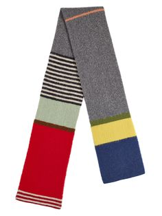 Brushed Uneven Stripe Scarf Multicolour