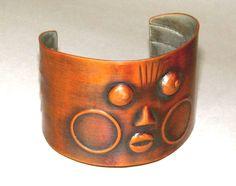 REBAJES MODERNIST BRACELET Vintage 1940's Copper Cuff, New York   #Rebajes #Modernist