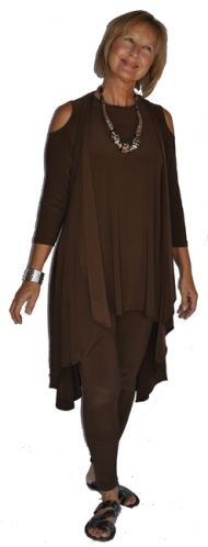Sympli glimpse tunic,wave vest & legging