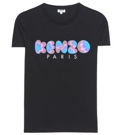 Kenzo - Printed cotton T-shirt - Wear this Kenzo logo-printed tee proudly on…
