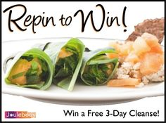 Win a #FREE 3-Day Cleanse! To Enter: #Repin this image and #Follow Joulebody on Pinterest! Click the image for more details. Contest ends August 30!