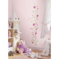 These are high quality, Genuine Lincesed, vinyl wall stickers. Watch her grow with our delicate Little Princess Growth Chart! You will receive the wall stickers pictured. The growth chart when assembled is x tall.