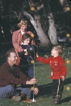 June Allyson and Dick Powell, with their children Dick Jr and Pamela
