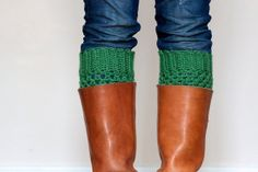 Crochet Boot Cuffs so you don't add bulk to your boots with thick socks!
