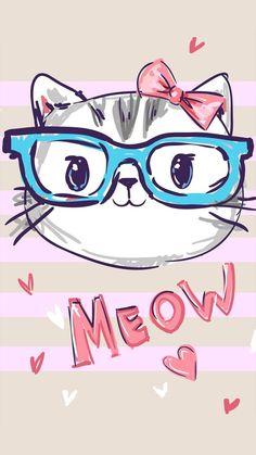 image Cute Cat Wallpaper, Animal Wallpaper, Disney Wallpaper, Cartoon Wallpaper, Cute Wallpapers, Wallpaper Backgrounds, Iphone Wallpaper, Image Chat, Cute Cars