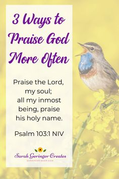 What reasons do you have to praise God today? Even if youre struggling, you can look around and find many reasons to praise God, because hes always good. Here are 3 ways you can praise God more often. Praise The Lords, Praise And Worship, Praise God, Strong Faith, Faith In God, Christian Living, Christian Faith, Harsh Words, Spot Light