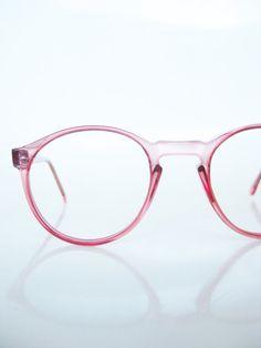 Oversized 1980s Sunglasses Round Eyeglasses Eyewear Womens Unisex Huge Circular Pink Cotton Candy Geek Chic 80s Pastel Clear